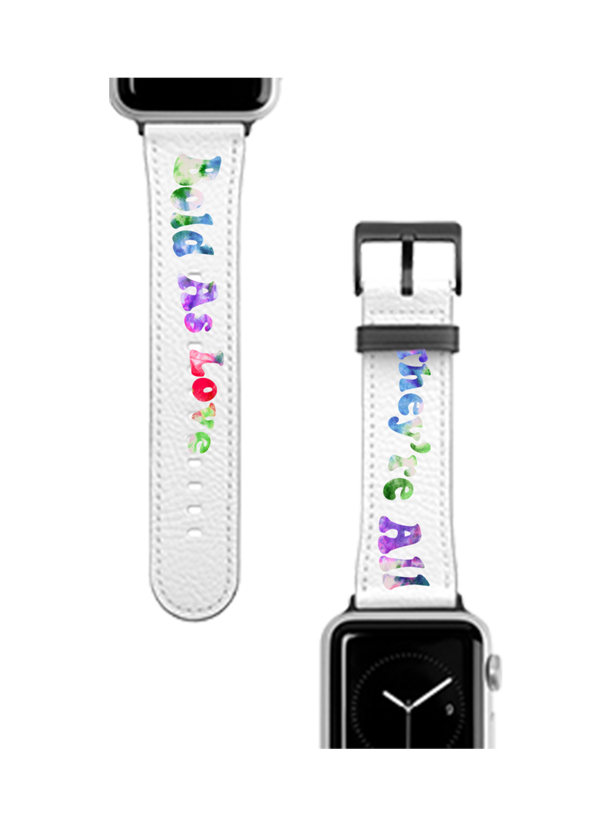 Bold as Love White Apple Watch Band