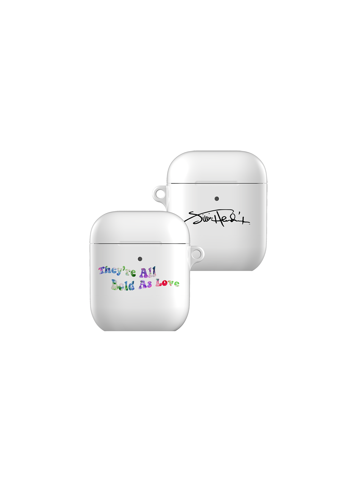Bold as Love White AirPods Case