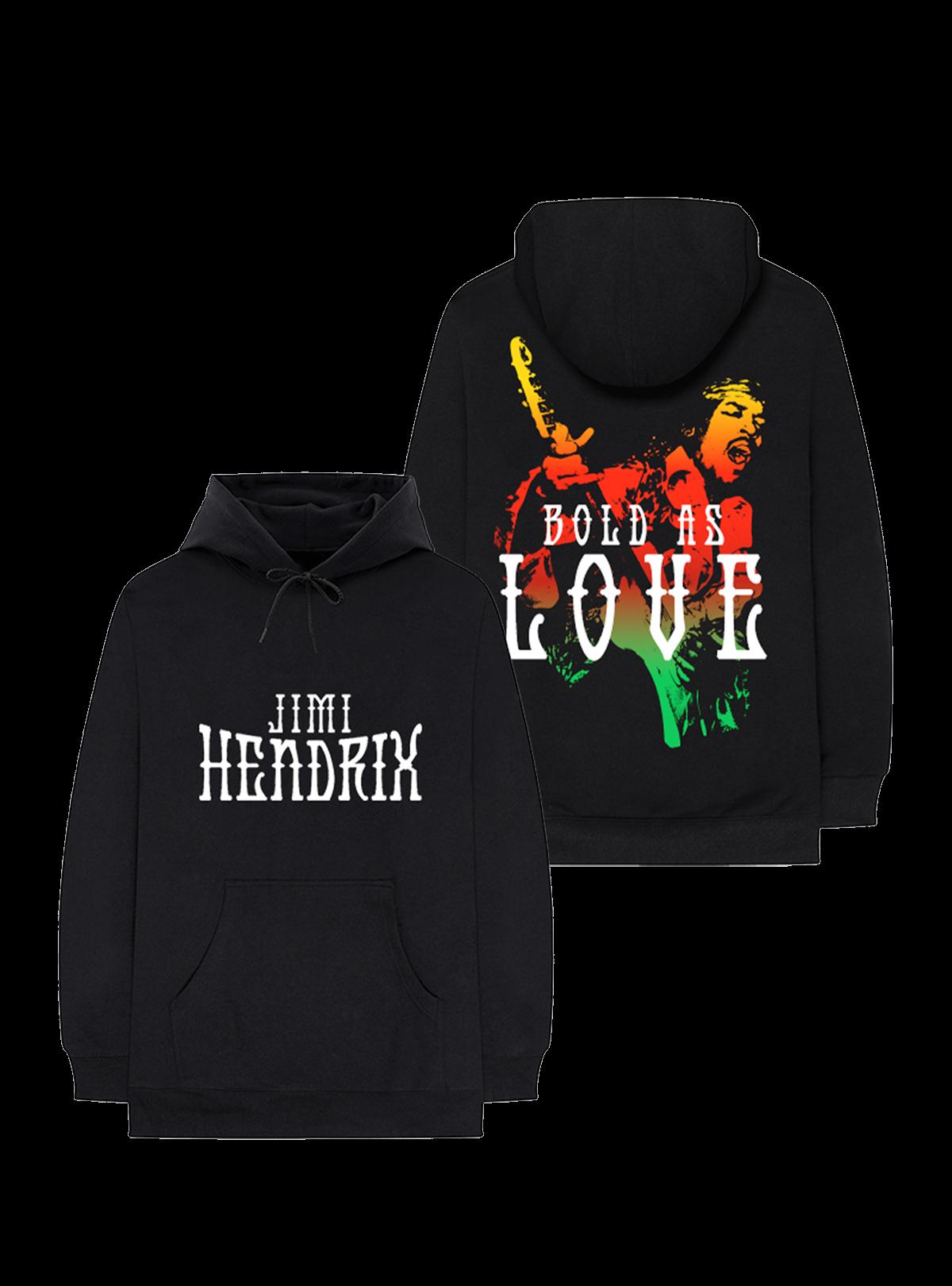 Jimi Hendrix Bold As Love Black Hoodie