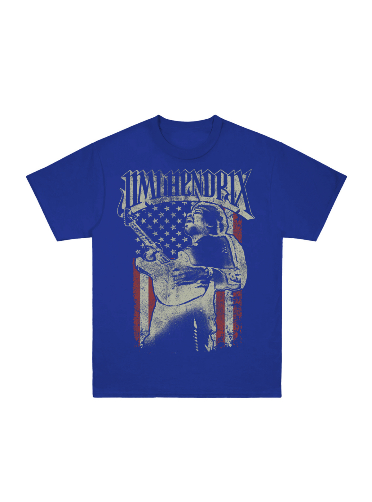 Jimi Hendrix Guitar Photo Flag T-Shirt