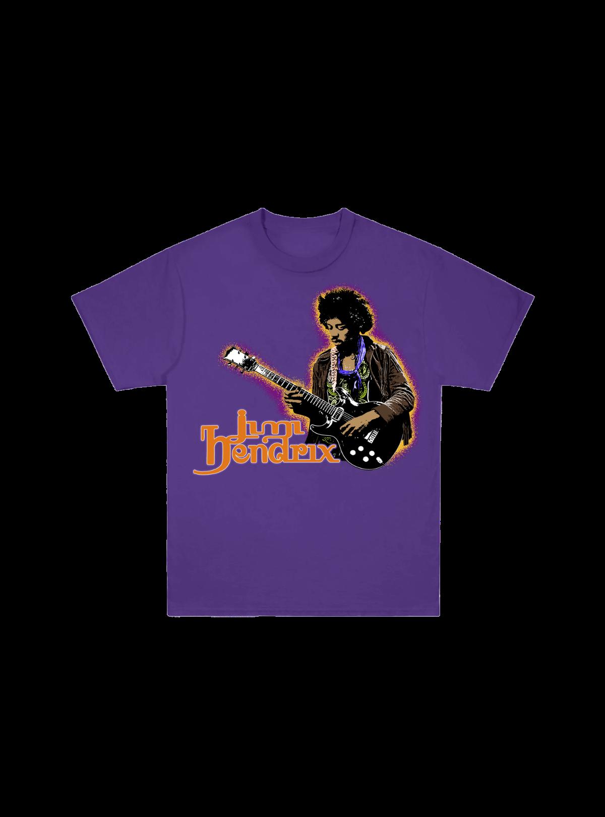 Jimi Hendrix Autumn Glow Purple T-Shirt