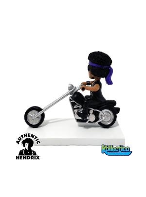 Jimi Hendrix on Motorcycle Bobblehead