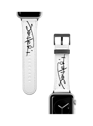Jimi Hendrix Signature White Apple Watch Band