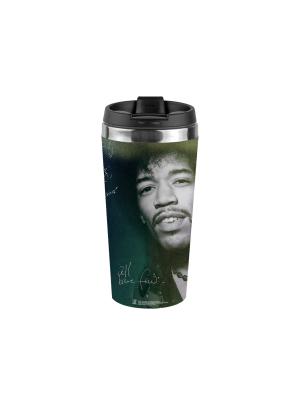 Jimi Hendrix Smile Photo Travel Mug
