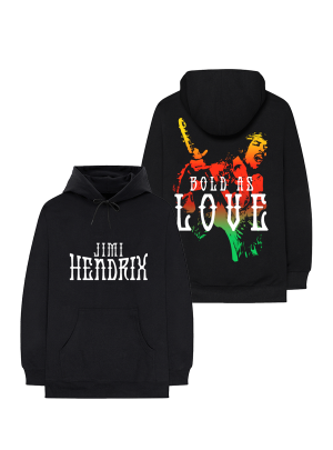 Jimi Hendrix Bold As Love Black Hoodie