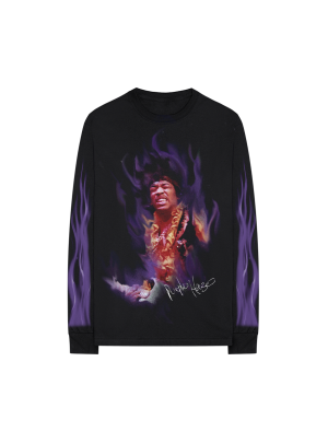 Purple Flame LS Tee