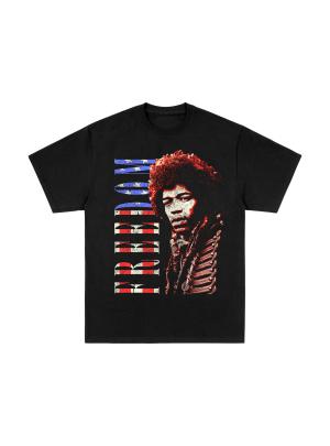 Freedom Flag Fill Black T-Shirt