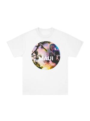 Maui Palm Trees White Tee