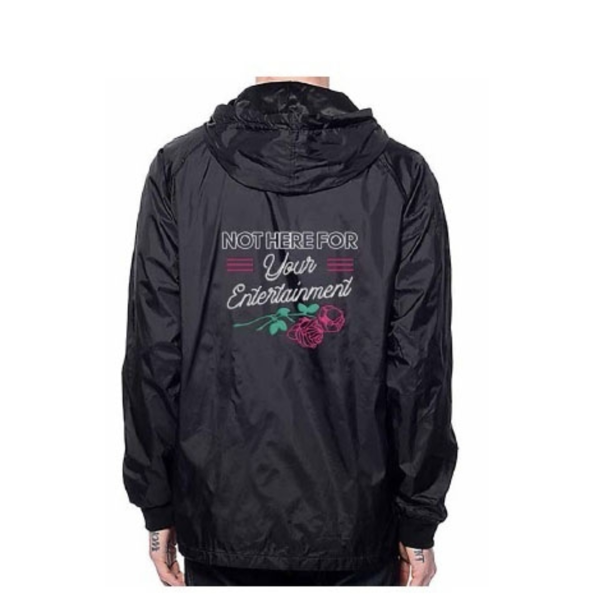 Embroidered Black Tech Jacket