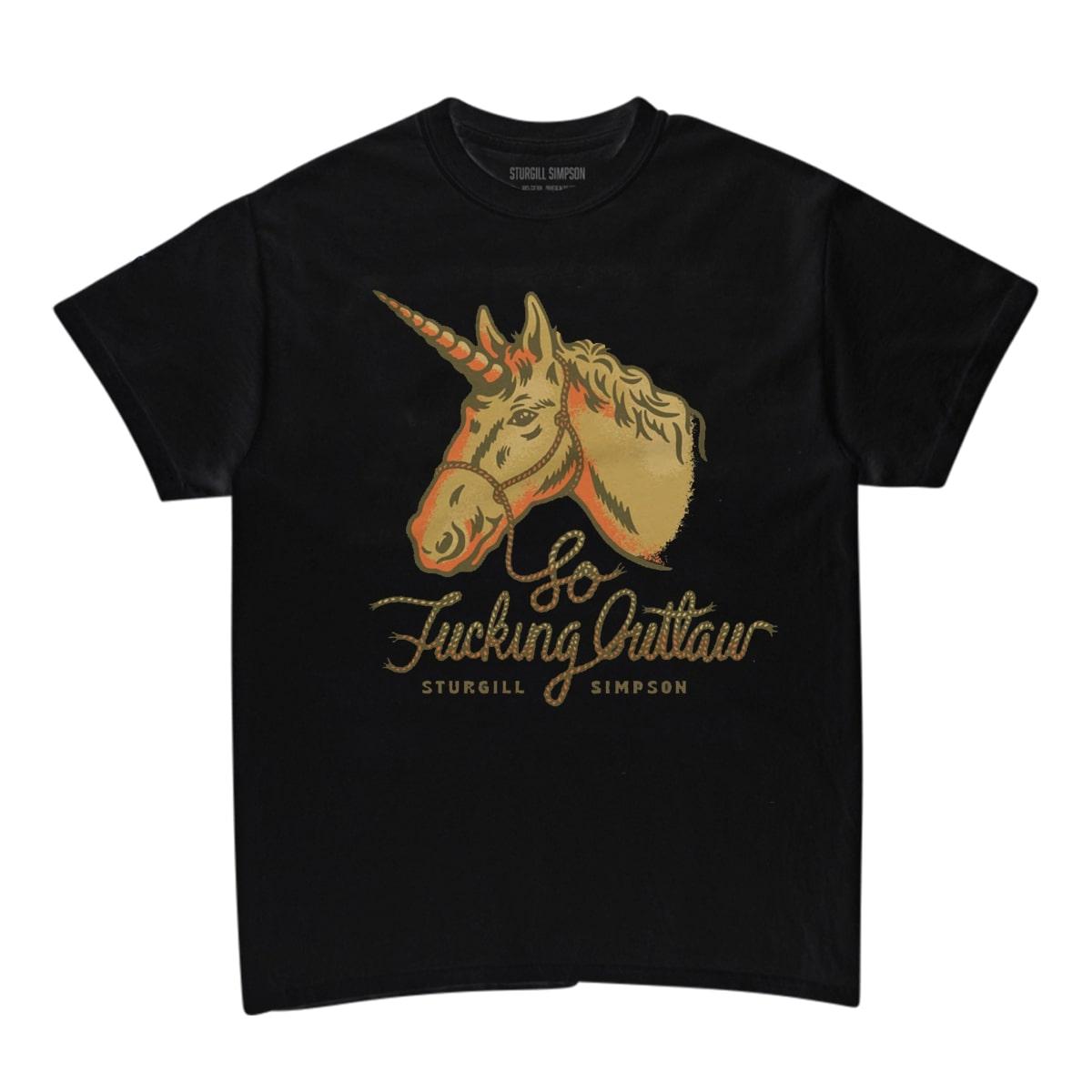 Outlaw Unicorn Black T-Shirt