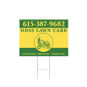 DDSS Lawn Care Sign