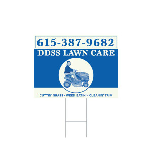 DDSS Winter Lawn Care Sign