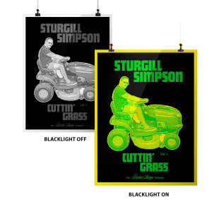 Cuttin' Grass Blacklight Lithograph