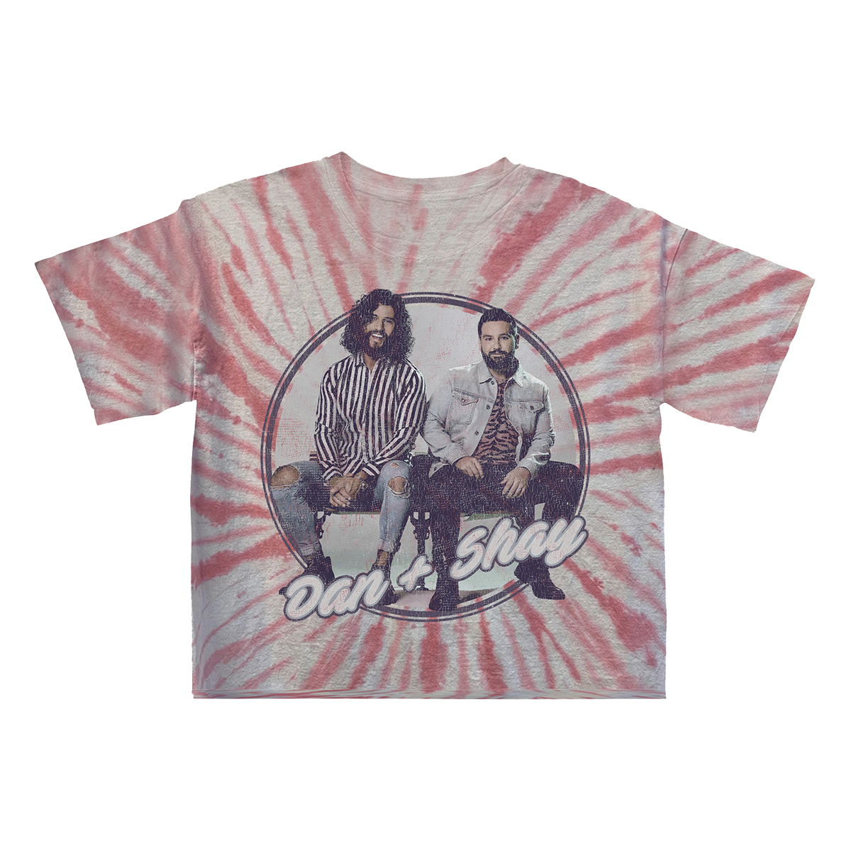 Cropped Tie Dye Girls T-shirt