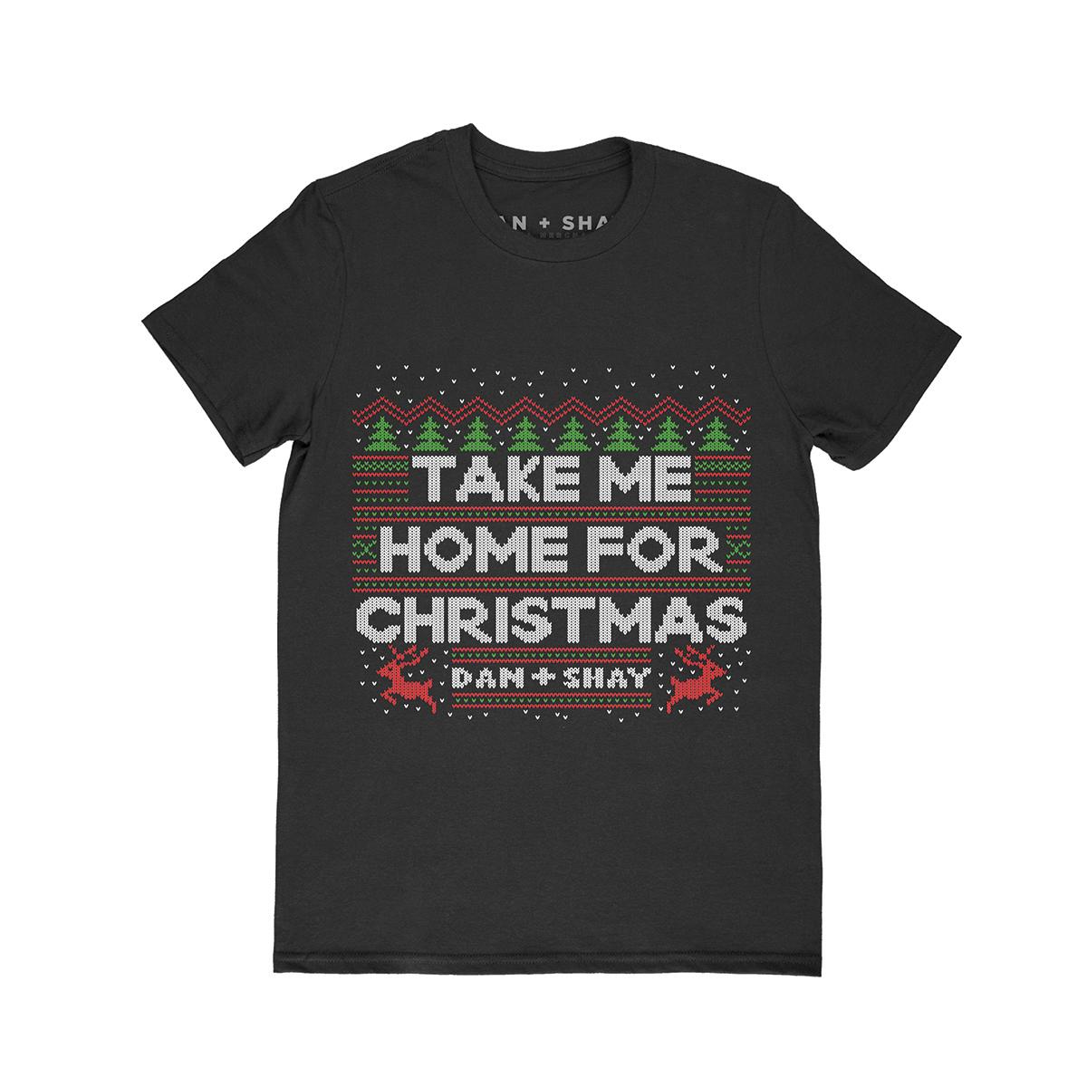 Take Me Home For Christmas Black T-Shirt