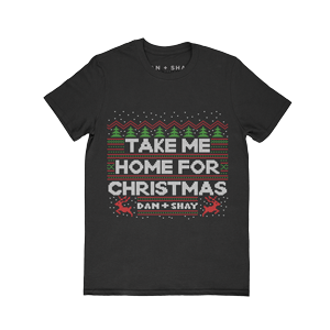 Take Me Home For Christmas Black T-Shirt