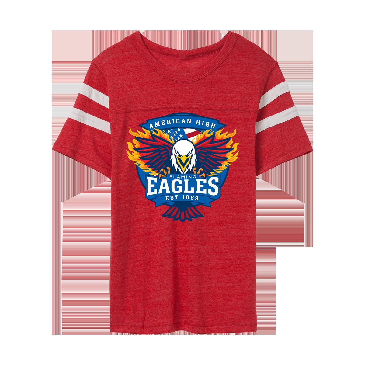 American High Eagles Football T-Shirt
