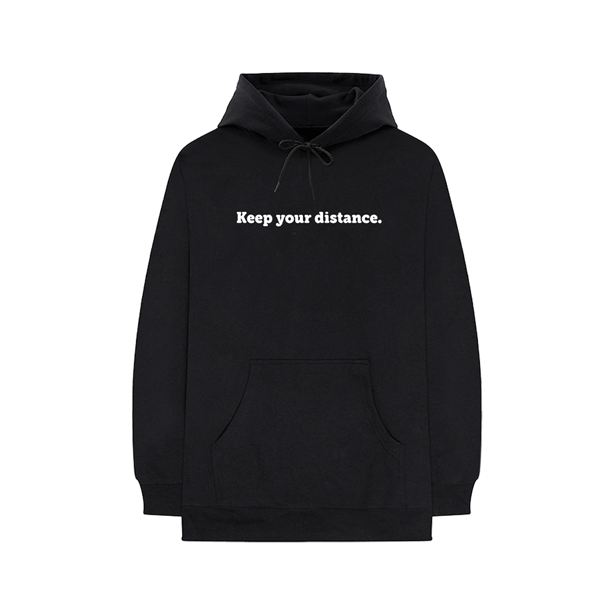 Social Distancing Embroidered Hoodie