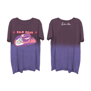 Show Pony Purple Gradient Tee