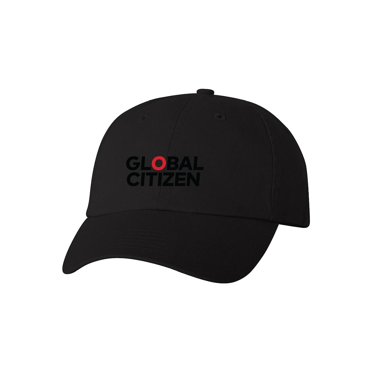 Global Citizen Logo Black Dad Hat