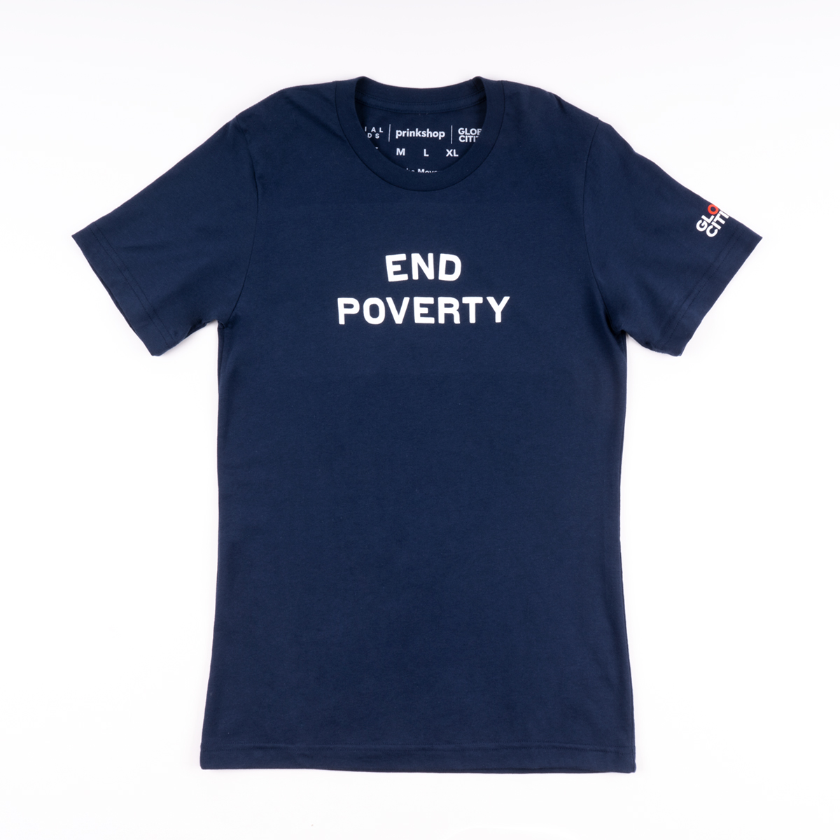 Global Citizen Social Goods End Poverty T-shirt