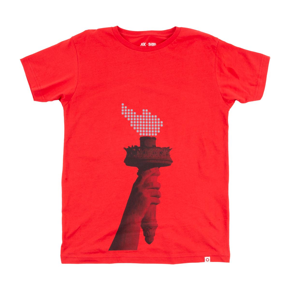 Global Citizen Red Torch T-shirt