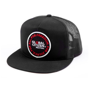 Global Citizen Black Trucker Hat