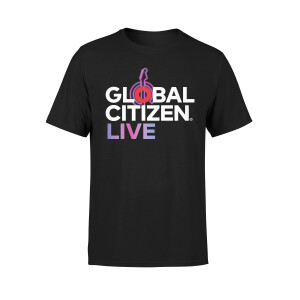 Global Citizen Live Neon Guitar Shirt