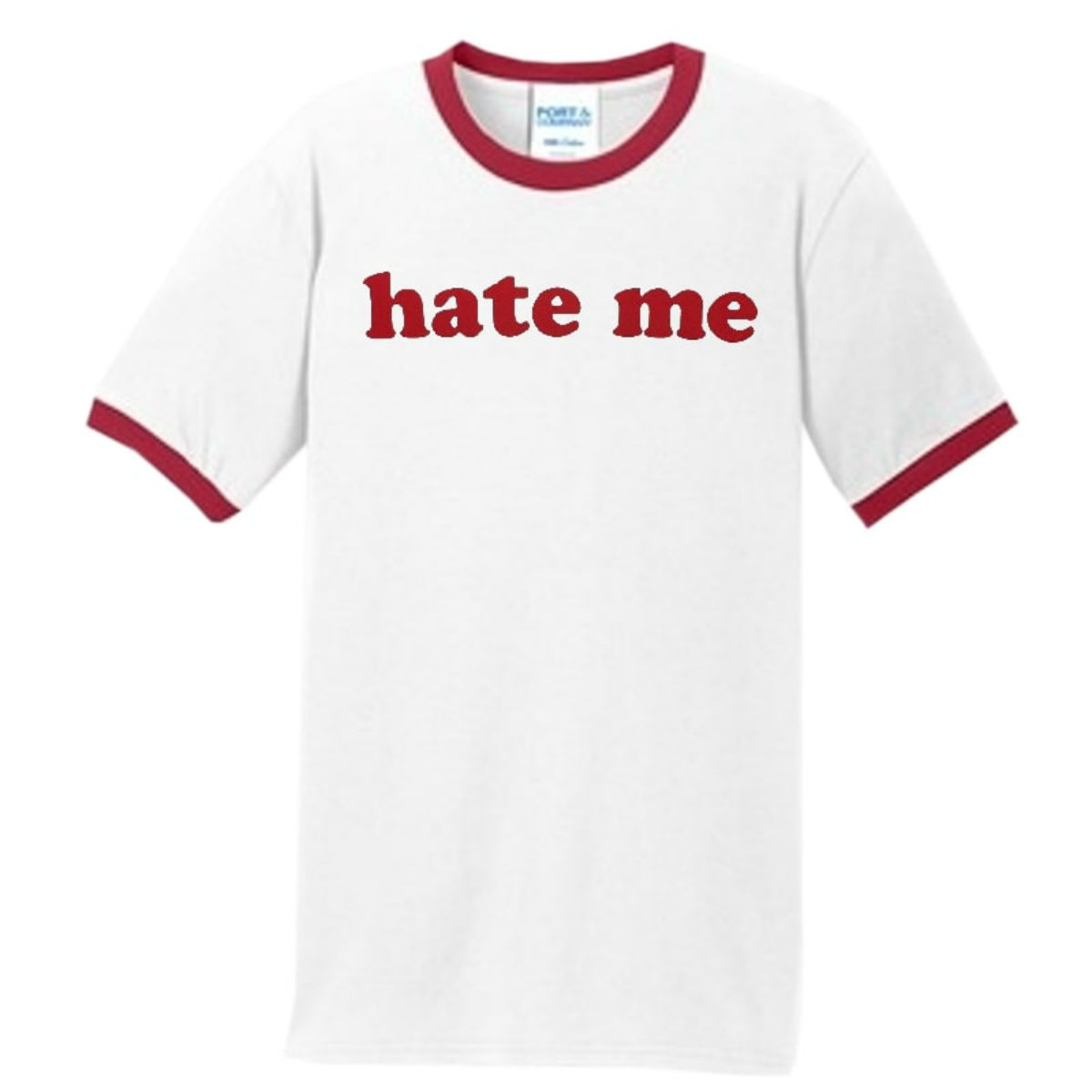 Hate Me Lightening Bolt Ringer Tee