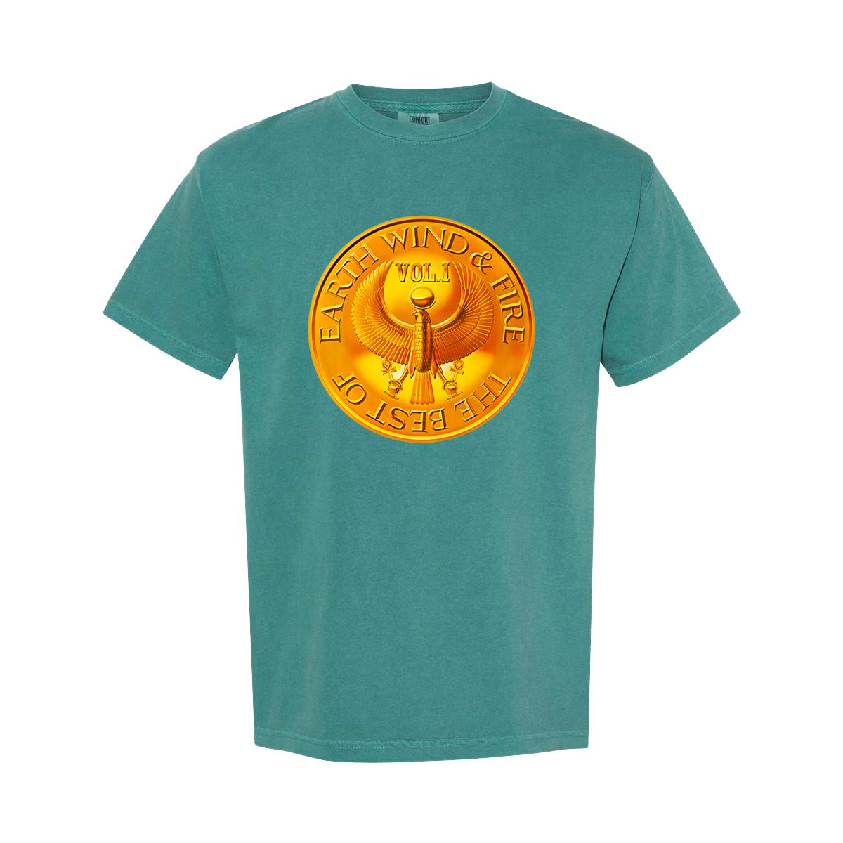 Earth, Wind & Fire Medallion Teal T-Shirt