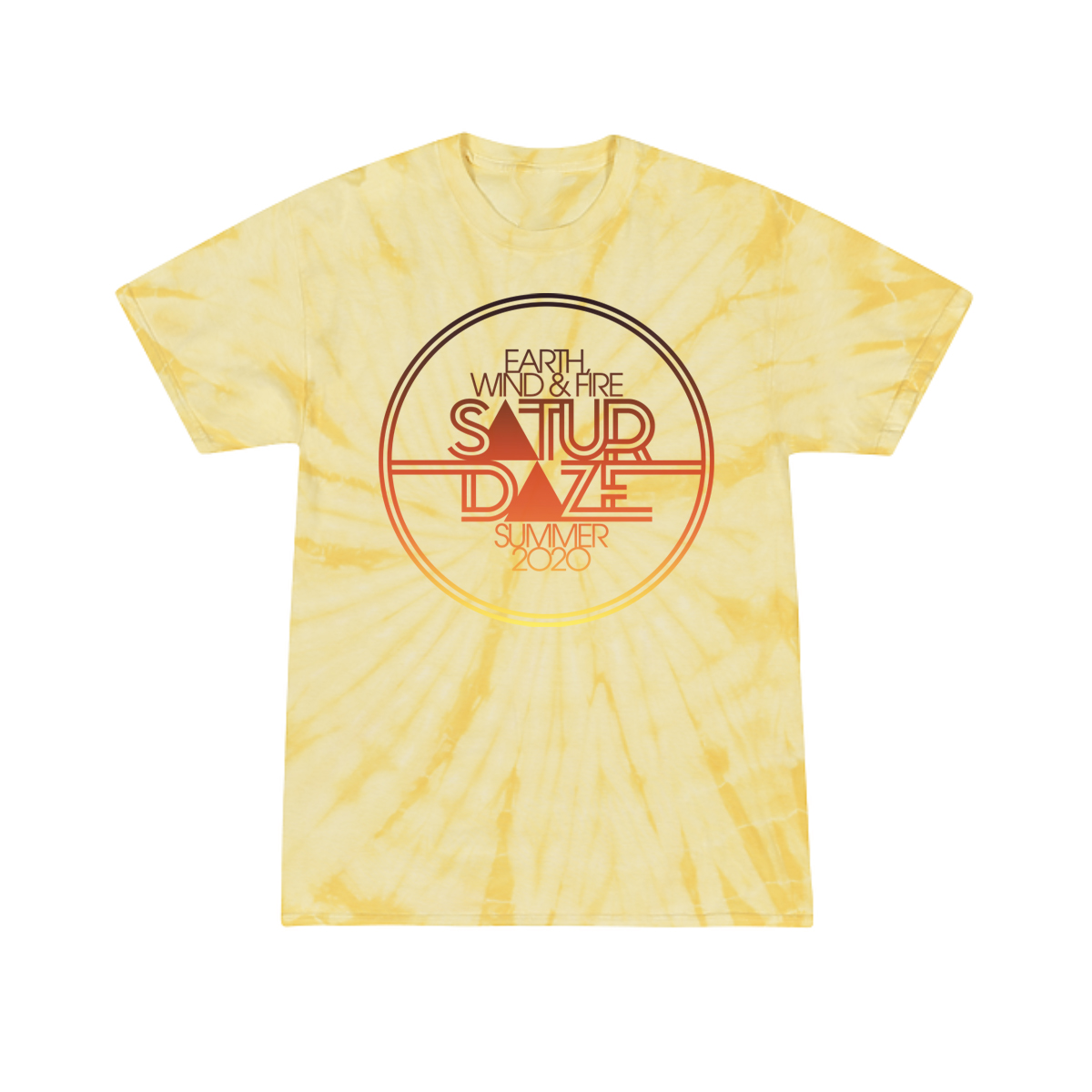 Saturdaze Yellow Tie-Dye Tee