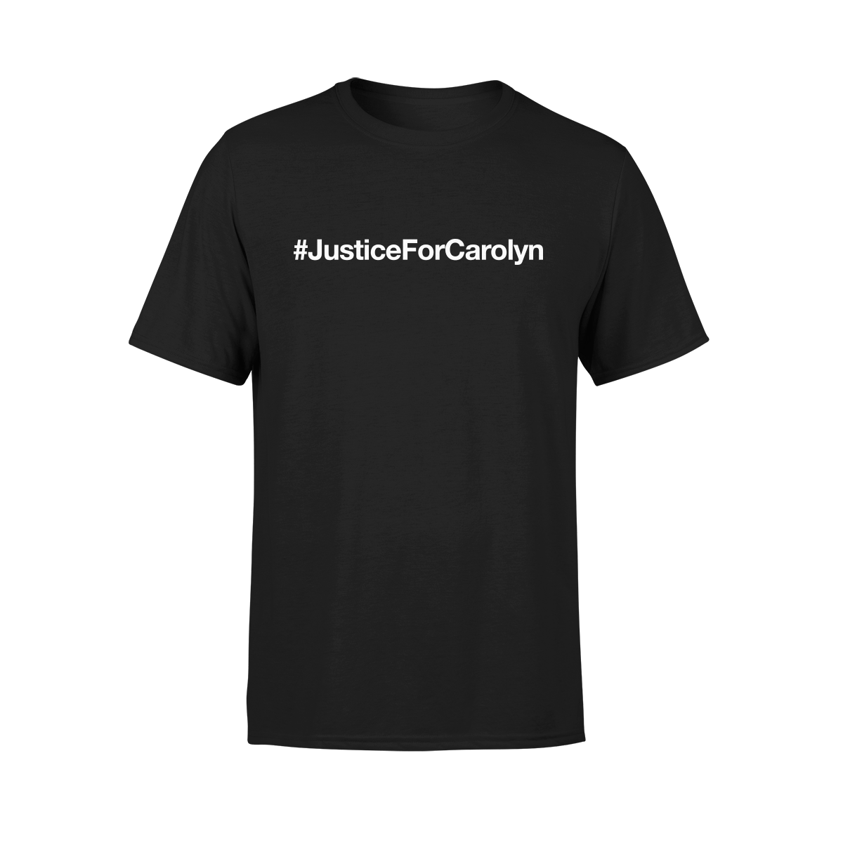 #JusticeForCarolyn T-Shirt - Black