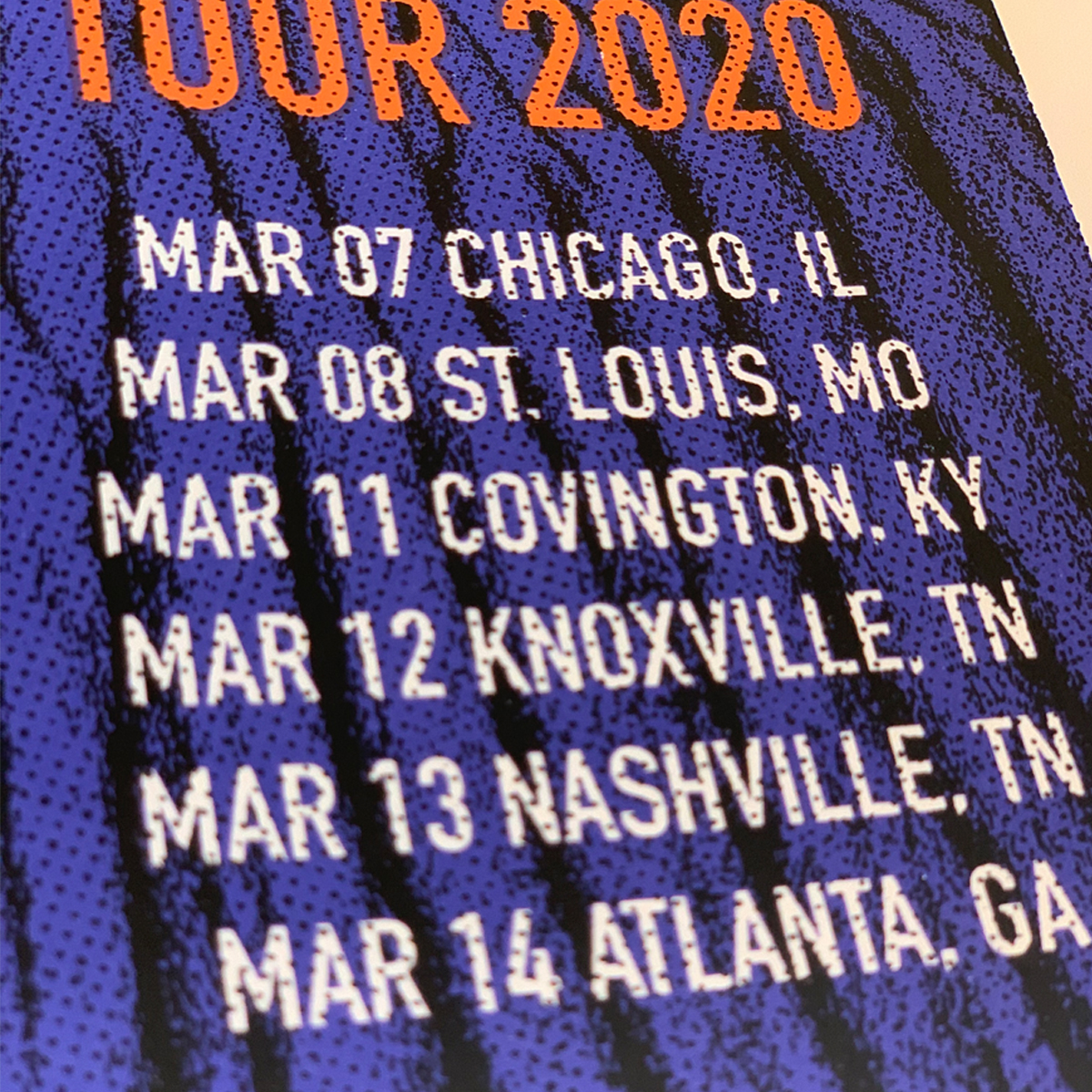 2020 Winter Tour Poster
