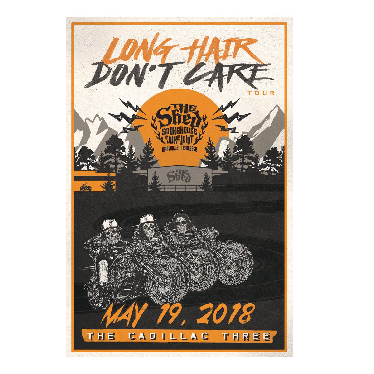 TC3 Long Hair Don't Care Poster
