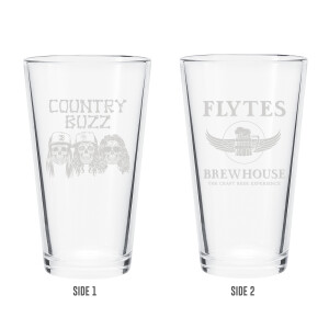 COUNTRY BUZZ BEER GLASS