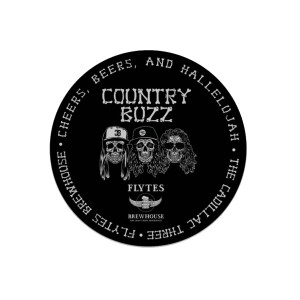 THE CADILLAC THREE COUNTRY BUZZ FLYTES BREWHOUSE STICKERS