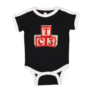 TC3 Baby Blocks Ringer Onesie