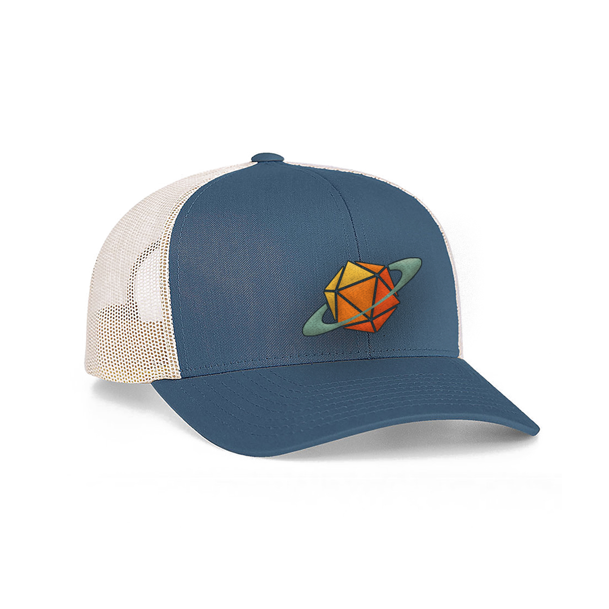 Blue Glass Cannon Network Snapback Hat