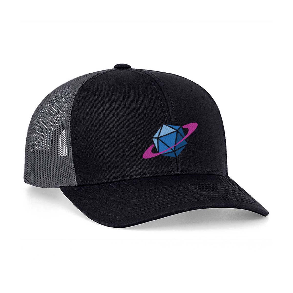 Black Glass Cannon Network Snapback Hat