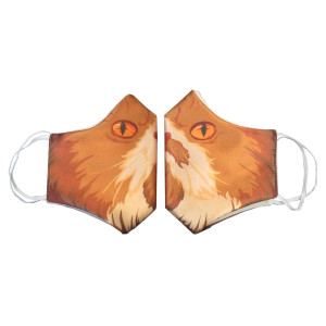 Troy's Cat Linus Sublimated Face Mask