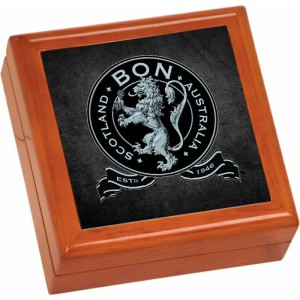 Lion Crest Wooden Keepsake Box
