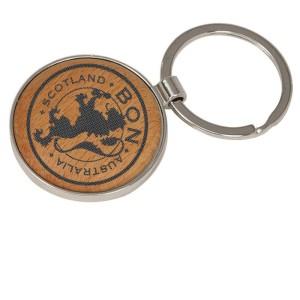 Lion Crest Laser Engraved Maple Keychain