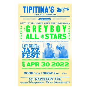Tipitina's 2022 Poster