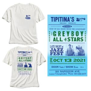 Tipitina's 2021 T-Shirt/Poster Bundle