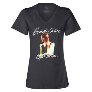 Right On Time Black V-Neck T-Shirt