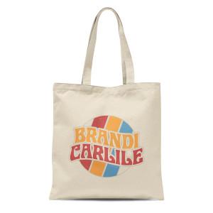 Cream Retro Logo Tote Bag