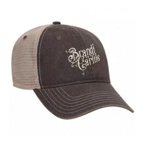 Black Washed Logo Trucker Hat