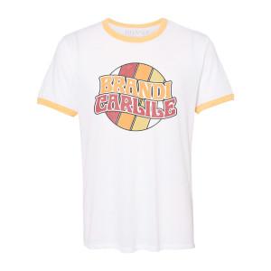 White/Yellow Retro Logo Ringer T-shirt
