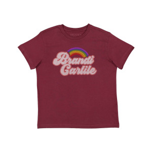 Youth Maroon Rainbow Logo T-shirt