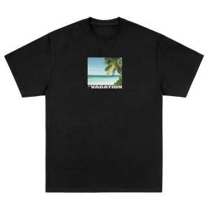 Vacation Photo Black Tee